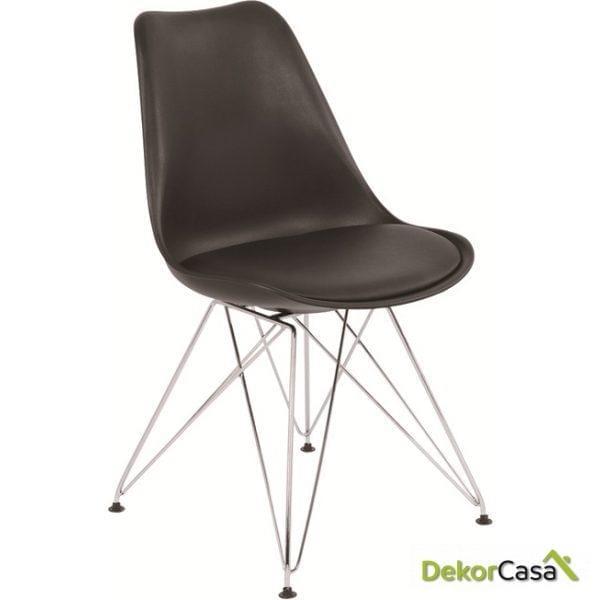 silla ames negra patas metalicas 1 1