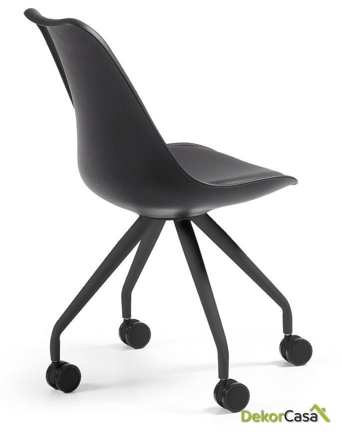 silla oficina con ruedas  charles negro