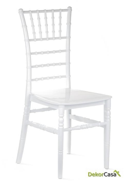 Silla CHIAVARI-BL polipropileno blanco 41 x 43 x 92 cm
