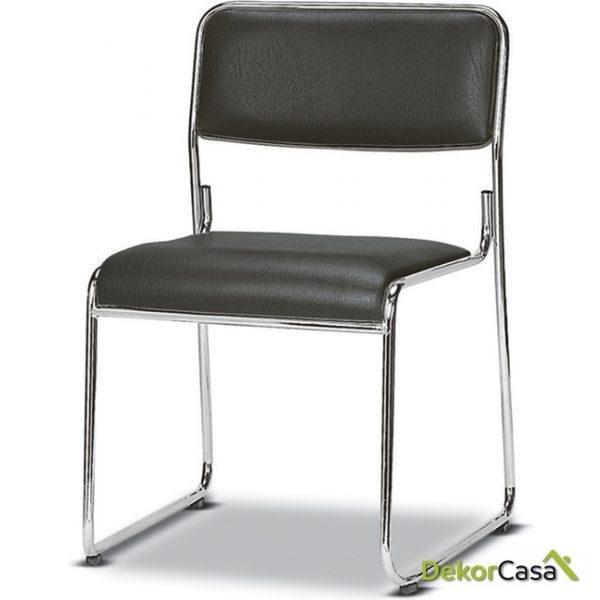 silla confidente negra cala