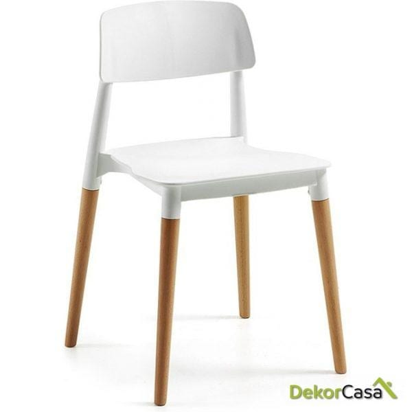 silla cros apilable-madera polipropileno