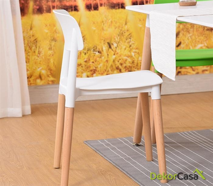 silla cros apilable madera polipropileno blanco 1 1