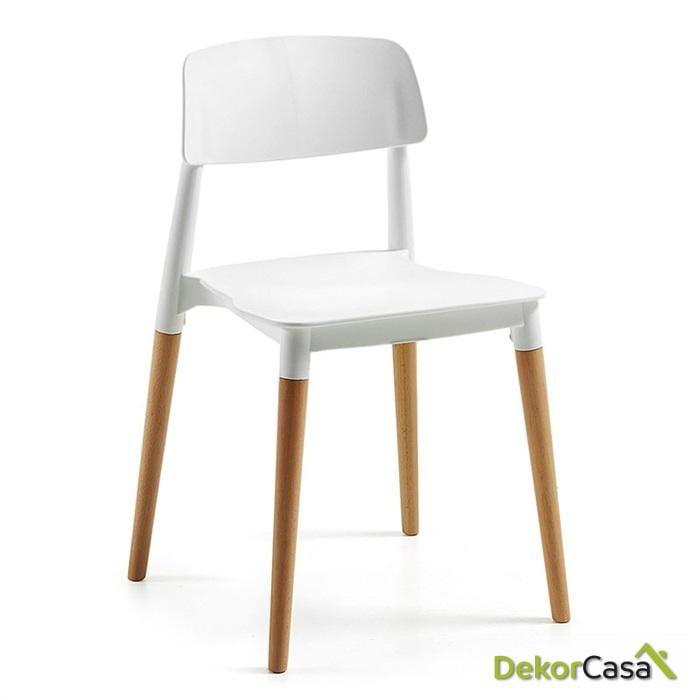 silla cros apilable madera polipropileno blanco 1