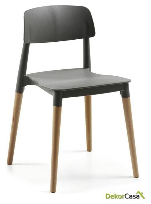 silla cros apilable madera polipropileno gris 1