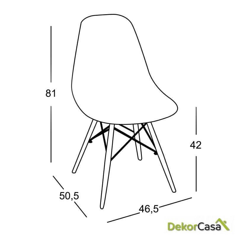silla dali negra 4 1 2