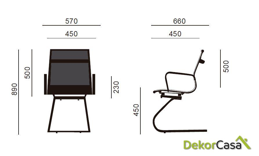 silla de oficina confidente berlin 56 x 64 x 90 cm 1