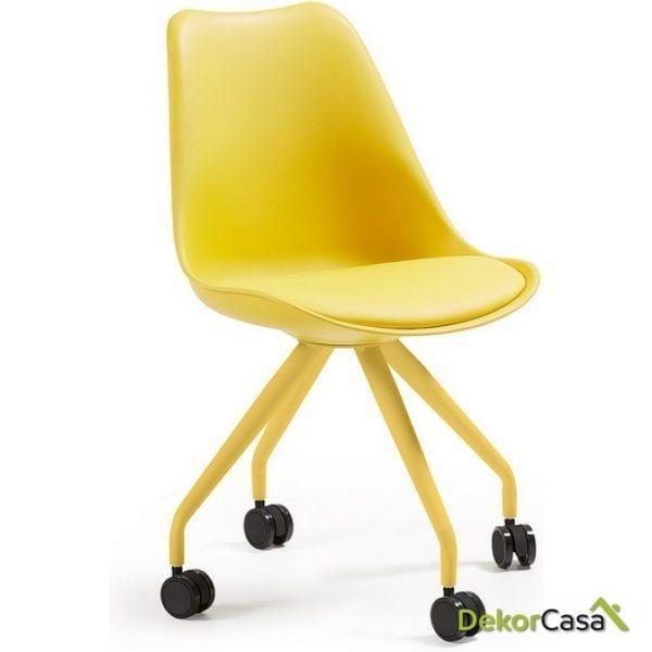silla ESCRITORIO con ruedas  charles AMARILLA