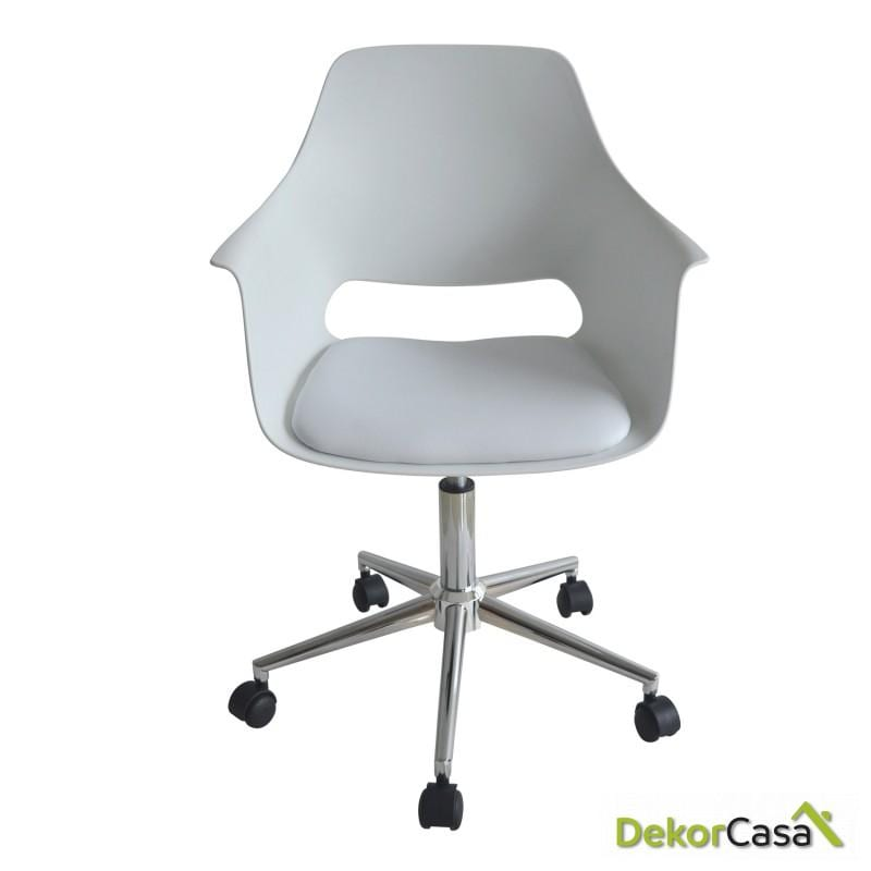 silla escritorio moon blanco 1