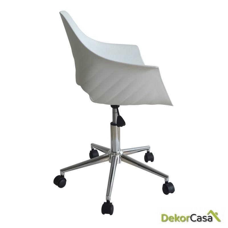 silla escritorio moon blanco 2