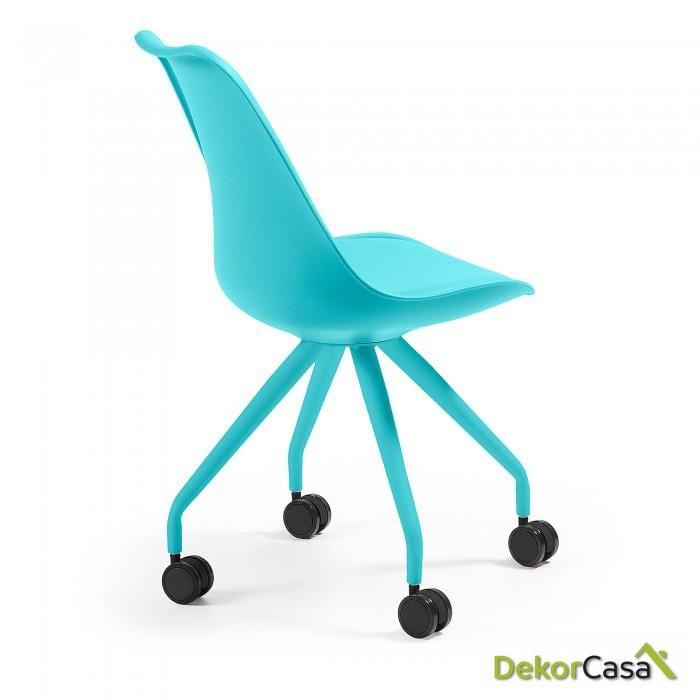 silla ESTUDIO con ruedas  RALF  AZUL
