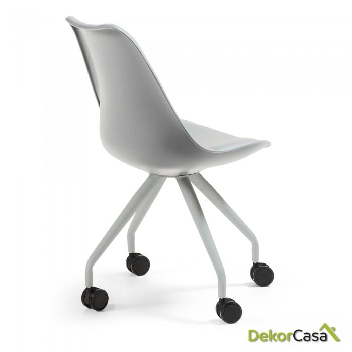 silla ESCRITORIO con ruedas  RALF  GRIS