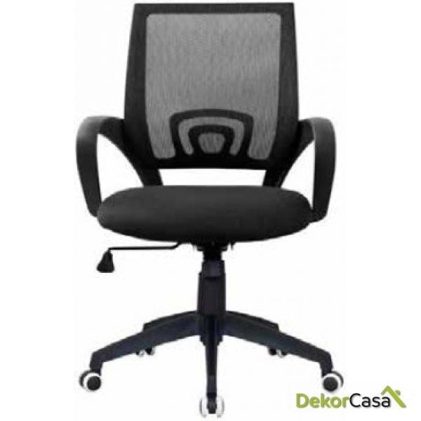 silla giratoria oficina berlin negra