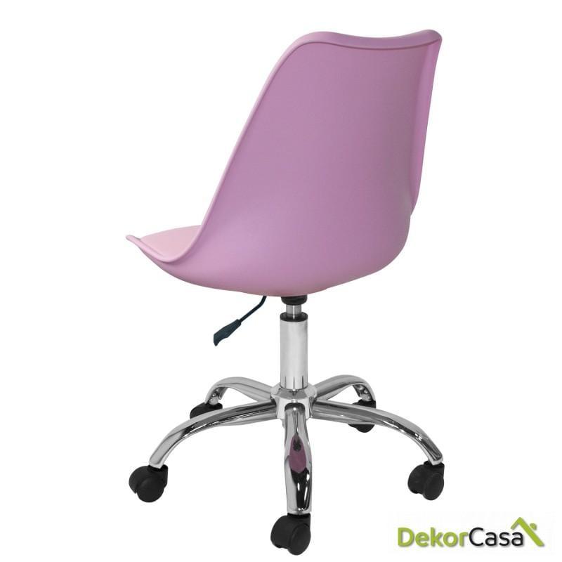 silla megan escritorio rosa 2