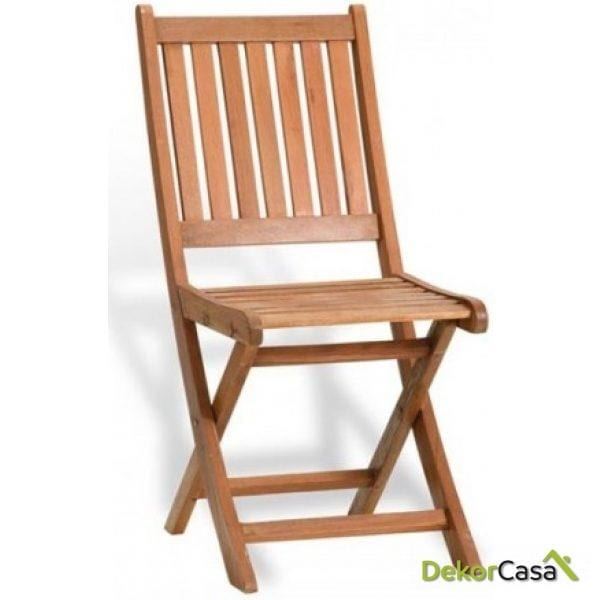 Silla plegable madera Agatha