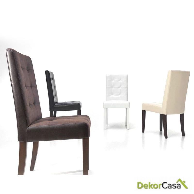 silla tempo pu wengue patas madera 1