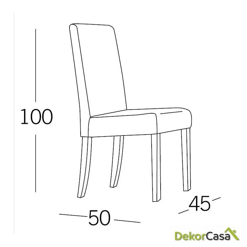 silla tempo pu wengue patas madera 3