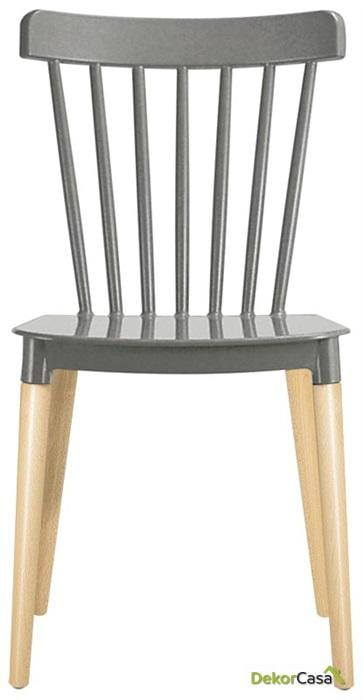 silla vanesa madera polipropileno