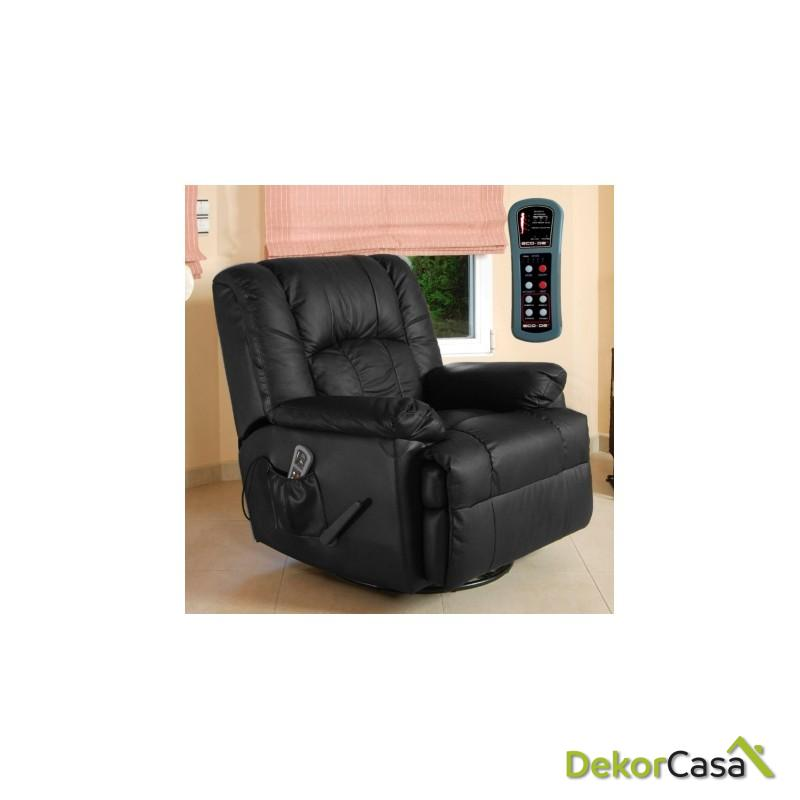 sillon de masaje balancin eco 8615n negro piel 1