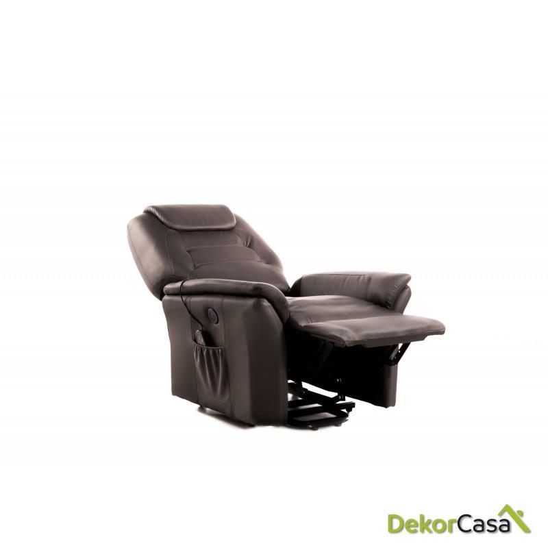 sillon de masaje eco 8196up marron chocolate eco de 4