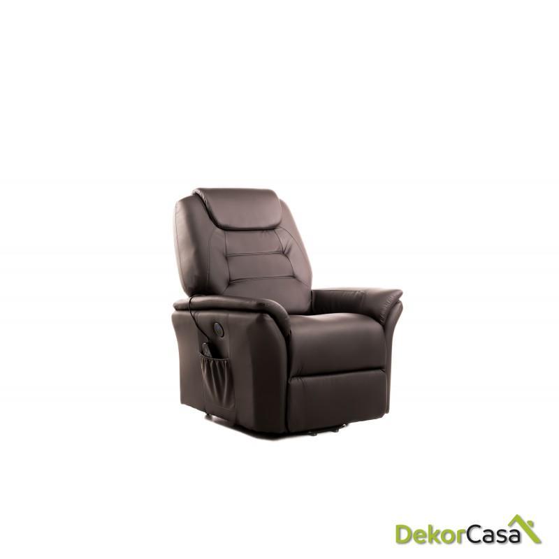 sillon de masaje eco 8196up marron chocolate eco de 5
