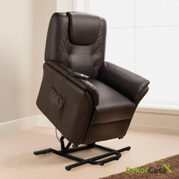 Sillón de masaje ECO-8196UP Marrón chocolate ECO-DE®