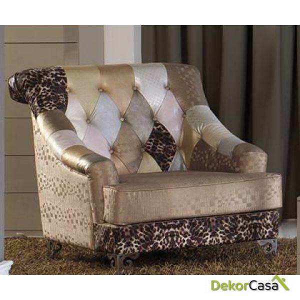 sillon tapizado tiffany b 8 95x98x100 cm