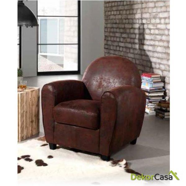 sillón vintage CHOCOLATE ENVEJECIDO
