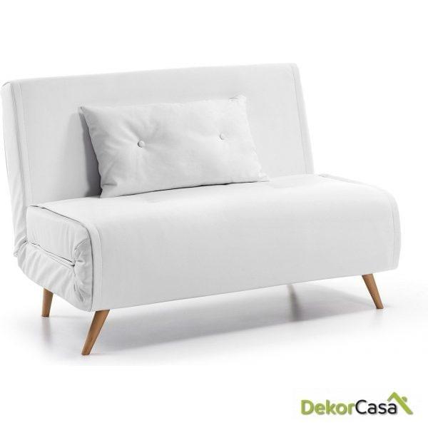 Sofa Cama TUPANA 100 CM.Pu Blanco puro