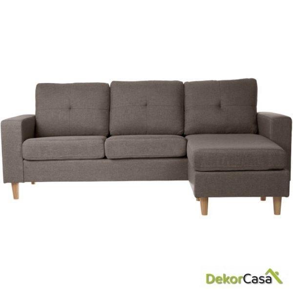 Sofá  chaise longue   CAPUCCINO