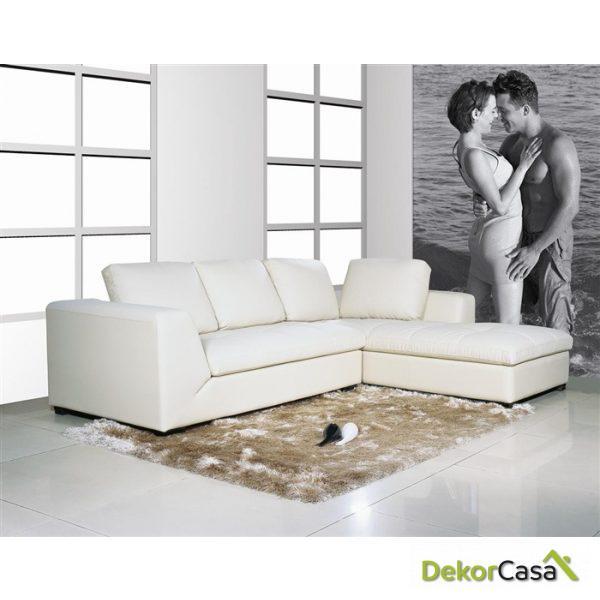 Sofa Cheslong Izquierda Ama Blanca