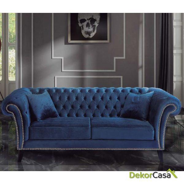 Sofá de salón Chester Lux 220 x 93 x 75 cm