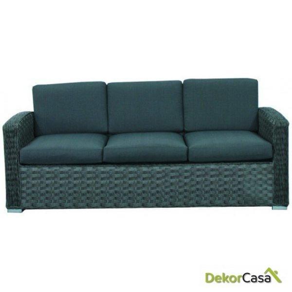 Sofa rattan 3 plazas Indico