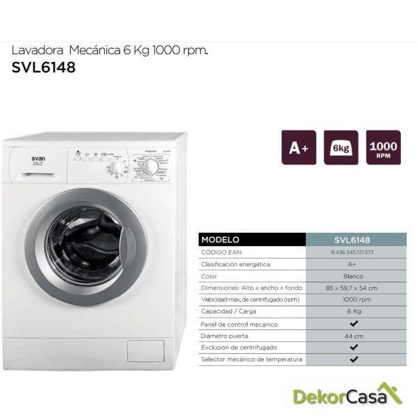 svl 1648 lavadora savn