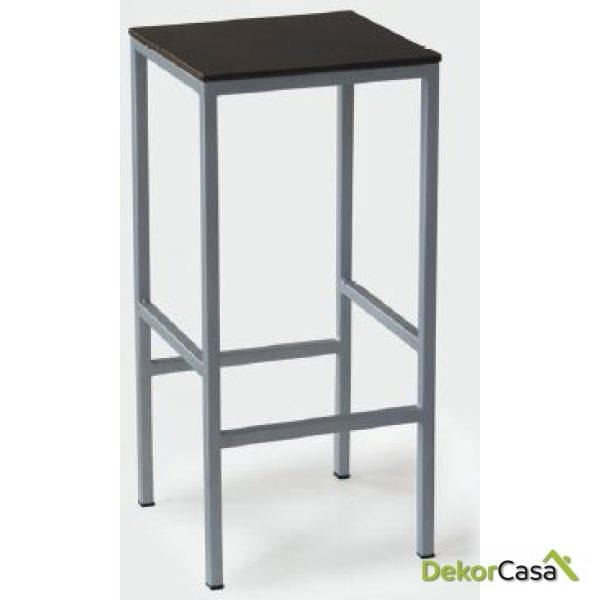 Taburete de aluminio asiento compacto 34 x 34 x 72 cm