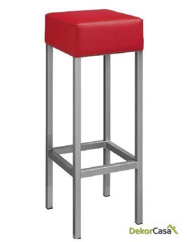 Taburete HEAVY epoxi similpiel negro/blanco/rojo 81cm