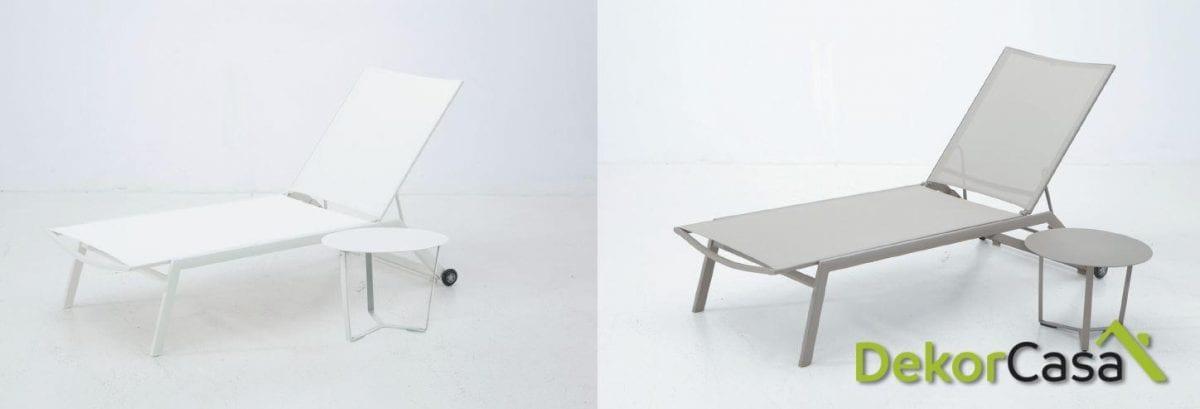 Tumbona corsa de aluminio y textilene 194x64cm