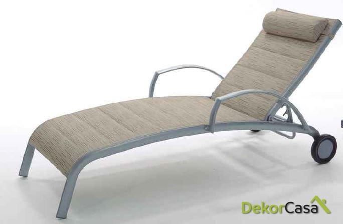 Tumbona new taha aluminio y textilene 201x70cm