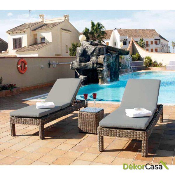 Tumbona Riviera 204 x 78 x 36 cm