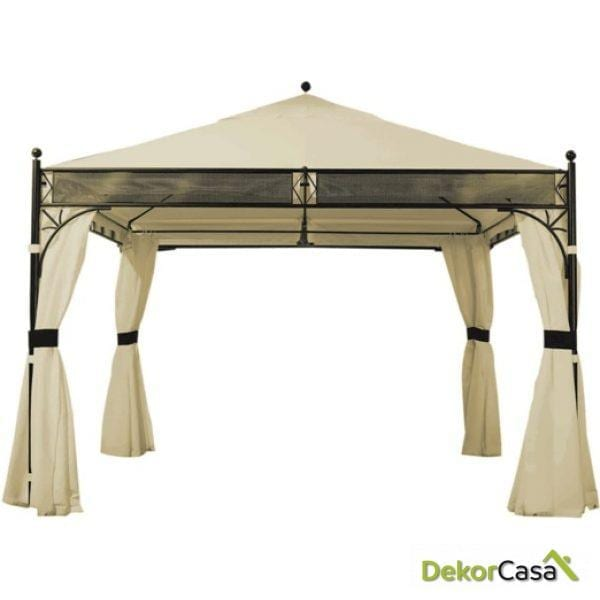 Velador cortinas color natural Pagoda 350X350 CM.