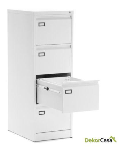 archivador metalico 4 cajones blanco denver 1