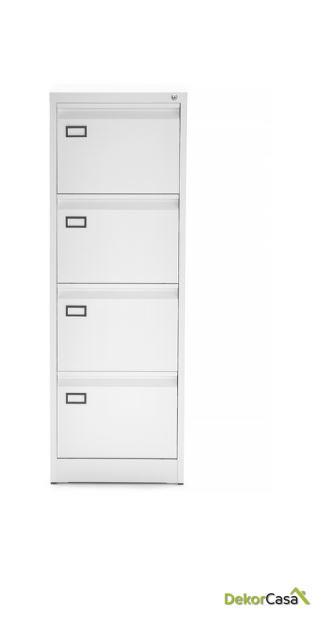 archivador metalico 4 cajones blanco denver