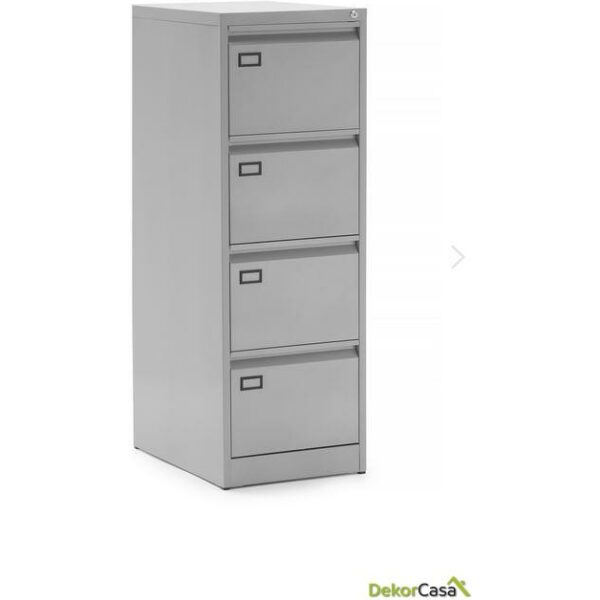 archivador metalico 4 cajones gris denver 2