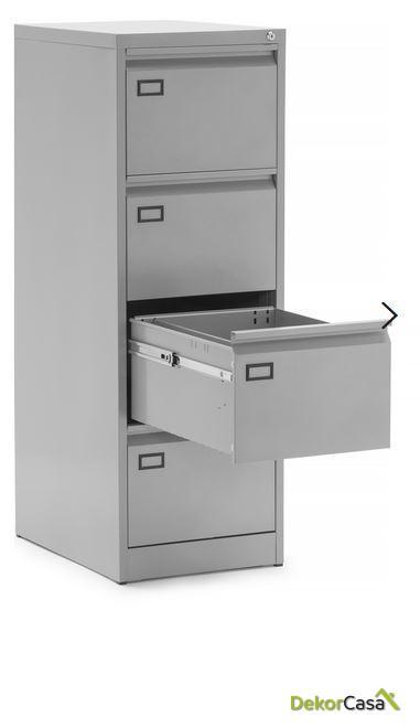 archivador metalico 4 cajones gris denver 3