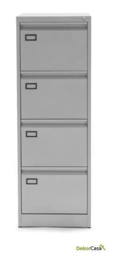 archivador metalico 4 cajones gris denver 4