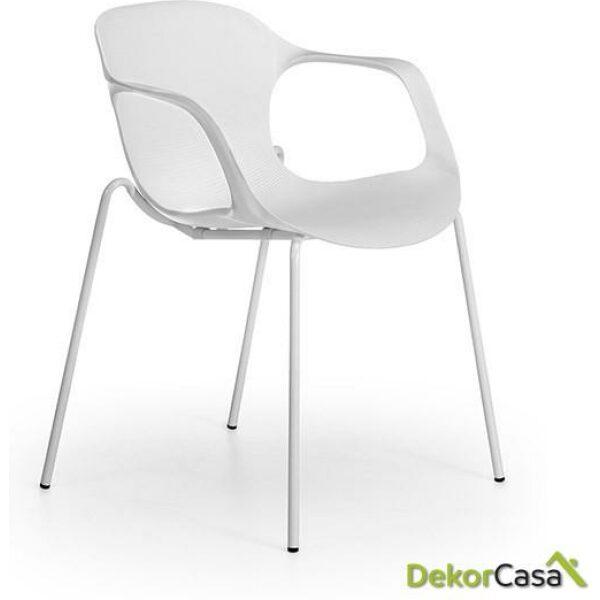 silla confidente apilable blanca bari 4