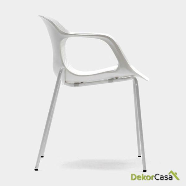 silla confidente apilable blanca bari 5