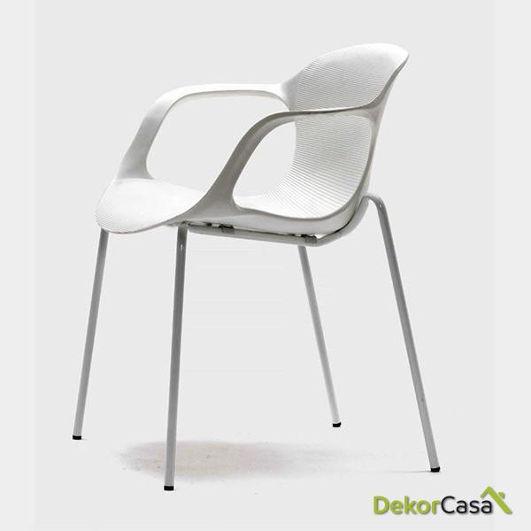 silla confidente apilable blanca bari 6