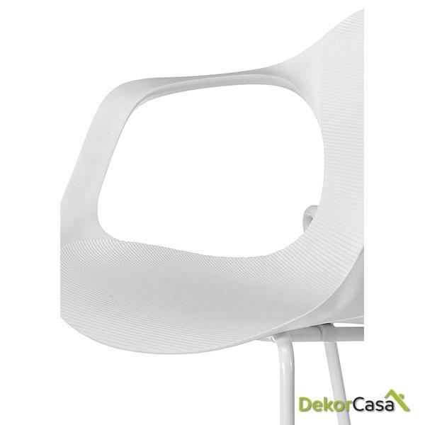 silla confidente apilable blanca bari 7