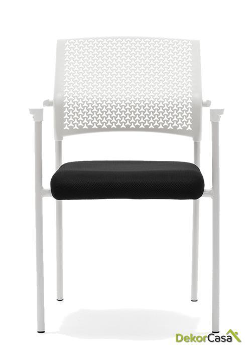 silla confidente apilable blanca manila 1