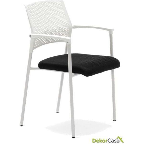 silla confidente apilable blanca manila 2